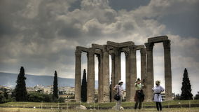 Temple of Olympian Zeus stock video