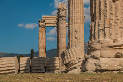 Temple of Olympian Zeus VI. A picture of the Temple of Olympian Zeus Stock Photos