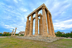 Temple of Olympian Zeus Royalty Free Stock Images