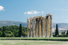 Temple of Olympian Zeus. A visit to Temple of Olympian Zeus in Athens, Greece Royalty Free Stock Image