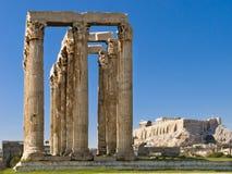 Temple olympique de Zeus Images libres de droits
