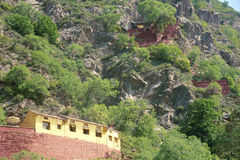 Temple On The Cliff Royalty Free Stock Photography