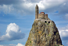 Temple On The Hill In Le Pyui, France Stock Photography