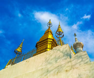 Temple. The one architect of Lao's temple at the top of mountain Stock Image