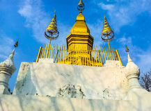 Temple. The one architect of Lao's temple at the top of mountain Stock Photography