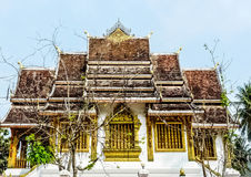 Temple. The one architect of Lao's temple at the top of mountain Royalty Free Stock Images