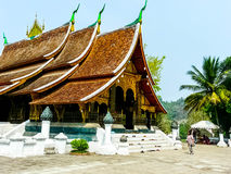 Temple. The one architect of Lao's temple at the top of mountain Royalty Free Stock Image
