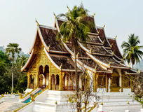 Temple. The one architect of Lao's temple at the top of mountain Royalty Free Stock Photography