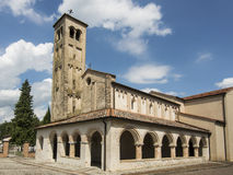 Temple of Ornella ,Veneto Italy. Church of the 13th century built by the order of the Templars Stock Photos