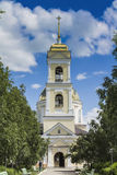 Temple of Orthodox Christians with a gold cupola 2 Royalty Free Stock Photo