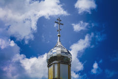 Temple of Orthodox Christians with a silver cupola 5 Stock Images