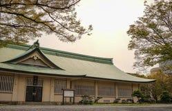 A temple at Osaka Castle stock image