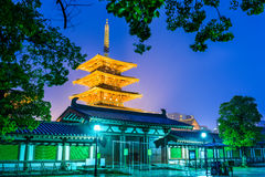 Temple in Osaka Royalty Free Stock Photography