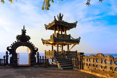 Temple over ocean on a sunset. Indonesia. Bali Stock Photography