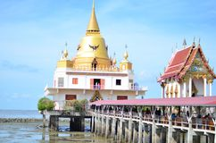 Temple Over The sea. Temple in Thailand there are build over the sea at Bang Pra Kong district Royalty Free Stock Photos
