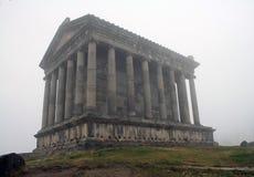 Temple païen de Garni, le temple hellénistique en république d'Arménie image stock