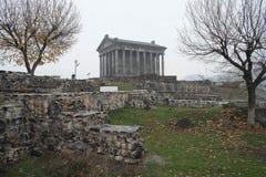 Temple païen de Garni, le temple hellénistique en république d'Arménie photos stock