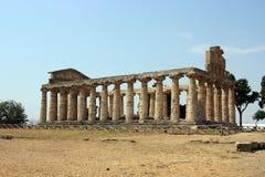 Temple paestum Royalty Free Stock Photos