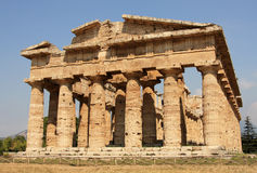Temple paestum Royalty Free Stock Photos