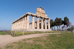 Temple of Paestum Archaeological site, Italy Royalty Free Stock Photography