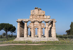 Temple of Paestum Archaeological site, Italy Royalty Free Stock Photos
