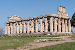 Temple of Paestum Archaeological site, Italy Royalty Free Stock Image