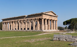Temple of Paestum Archaeological site, Italy Stock Photos