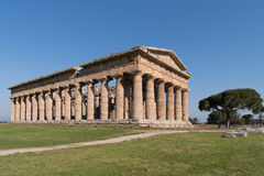 Temple of Paestum Archaeological site, Italy Stock Image
