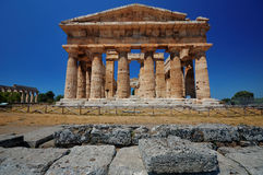 Temple in Paestum, Italy. This picture shows the temple of Poseidon in Paestum, Italy Royalty Free Stock Photography