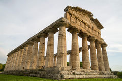 Temple of Paestum, Italy stock images