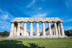 Temple of Paestum - Salerno Royalty Free Stock Image