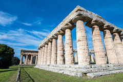 Temple of Paestum - Salerno Royalty Free Stock Photo