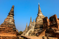 Temple pagoda. Pagoda in Ayutthaya Historical Park, Thailand Royalty Free Stock Photography