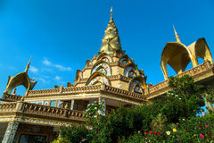 Temple Pagoda. Pagoda at Phasornkaew Temple, Khao Kho, Phetchabun, Thailand Stock Photo