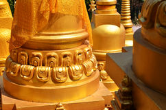 Temple pagoda top 500 Saraburi Thailand Royalty Free Stock Photo