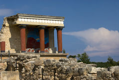 Temple at the Palace of Knossos Stock Photo