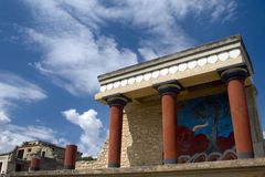 Temple at the Palace of Knossos Stock Photography