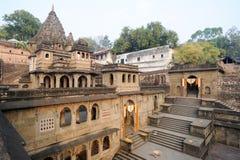 Temple palace of Maheshwar Royalty Free Stock Image
