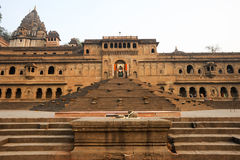 Temple palace of Maheshwar Stock Images