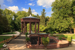 Temple in the park of Bad Homburg in summer Stock Photo