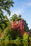 Temple in the park Buttes Chaumont, Paris, France Stock Photography