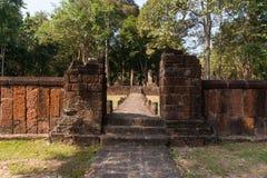 Temple. Pathway Ancient temples , Kamphaeng Phet Stock Photo