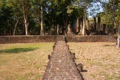Temple. Pathway Ancient temples , Kamphaeng Phet Stock Photography