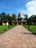 Temple at Perfume river in Hue, Vietnam Royalty Free Stock Photo