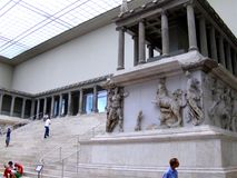 Temple of Pergam. Pergamon Museum in Berlin Stock Photography
