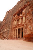 Temple in Petra. View of ancient temple in Petra stock image