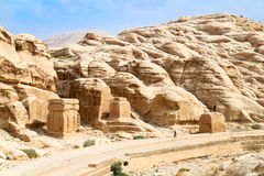 Temple in Petra. Jordan Royalty Free Stock Photo