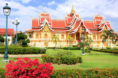 Temple at Pha That Luang complex, Vientiane, Laos Stock Images
