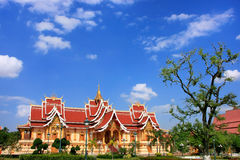 Temple at Pha That Luang complex, Vientiane, Laos Royalty Free Stock Image