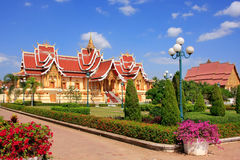 Temple at Pha That Luang complex, Vientiane, Laos Royalty Free Stock Photography